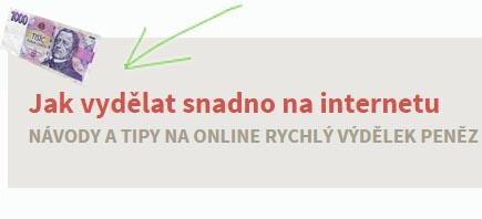 snadný výdělek na internetu - banner
